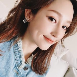 【梨花HaNA】韓國925銀珠寶滿天星雲皓石流蘇垂掛耳環