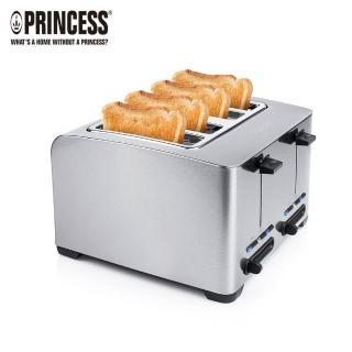 【PRINCESS 荷蘭公主】不鏽鋼厚四片烤吐司機(142397快速到貨)