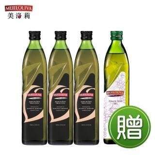 【西班牙美洛莉】碧卡答PICUDA特級冷壓初榨橄欖油(500mlX3贈葡萄籽油X1)