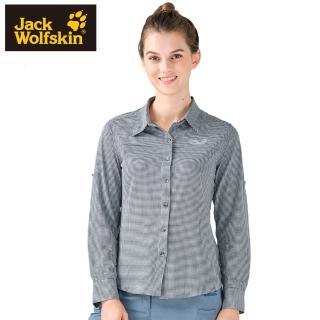 【Jack wolfskin 飛狼】女 彈性長袖排汗襯衫(深灰)