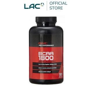 【GNC 健安喜】支鏈胺基酸1800膠囊食品120顆(L-白胺酸 L-異白胺酸 L-α-胺基異戊酸)