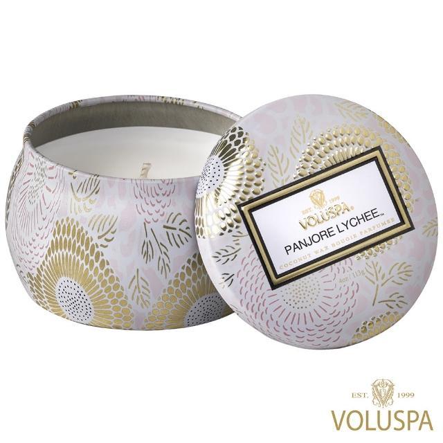 【美國 VOLUSPA】梨香荔枝 錫盒 113g香氛蠟燭(Panjore Lychee)