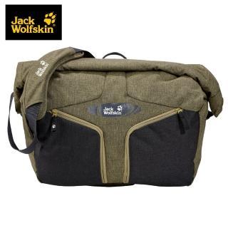 【Jack wolfskin 飛狼】Urban Messenger 單肩背包 18L(橄欖綠/黑色)