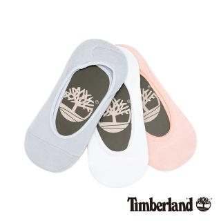 【Timberland】女款藍粉白三件組隱形襪(A1EB1R23)