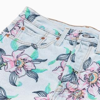 【LEVIS】女款 501 高腰排釦牛仔短褲 / 夏日清新風 / 不收邊