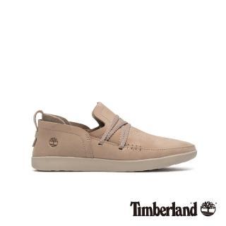 【Timberland】女款灰褐色磨砂革舒適透氣休閒鞋(A1YCKK51)