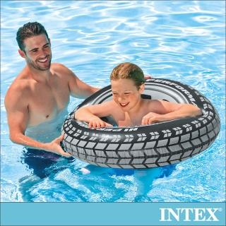 【INTEX】酷輪胎-游泳圈91cm_適用9歲以上(59252)