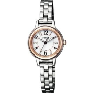 【CITIZEN 星辰】WICCA 公主系列粉紅金太陽能腕錶(KP3-619-11)