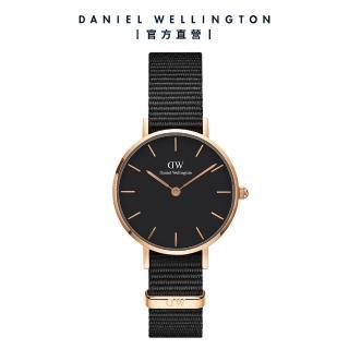 【Daniel Wellington】官方直營 Petite Cornwall 28mm寂靜黑織紋錶(DW手錶DW00100247)