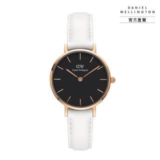 【Daniel Wellington】官方直營 Petite Bondi 28mm純真白真皮皮革錶(DW手錶DW00100285)