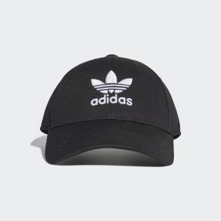 【adidas 愛迪達】老帽 Trefoil Baseball Cap 愛迪達 三葉草 運動休閒 可調帽圍 穿搭 黑 白(EC3603)