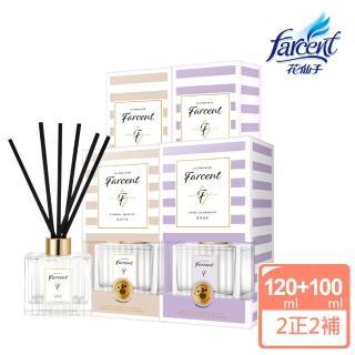 【Farcent香水】璀璨名媛室內擴香極寵4件組(2正+2補)