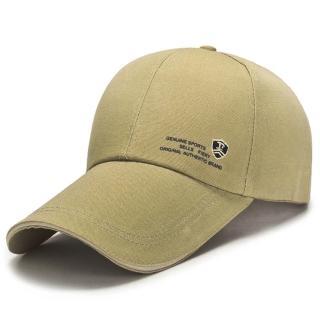 【活力揚邑】防曬防紫外線防風戶外運動透氣鴨舌帽盾形F刺繡棒球帽(駝)
