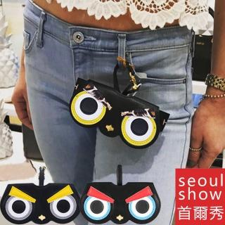【Seoul Show首爾秀】憤怒鳥外掛墨鏡收納包光學眼鏡保護夾太陽眼鏡盒(墨鏡平光近視老花)