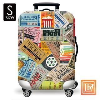 【LittleChili】繽紛行李箱套(美式搖滾S)