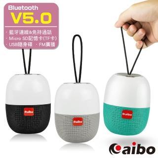【aibo】BT-L07 多功能隨身攜帶式 藍牙V5.0無線喇叭(TF卡/隨身碟/FM)