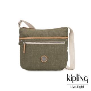 【KIPLING】城市探索橄欖綠前拉鍊側背包-ARTO-EDGELAND系列