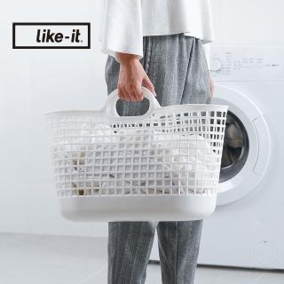 【日本like-it】北歐便攜手提洗衣收納籃