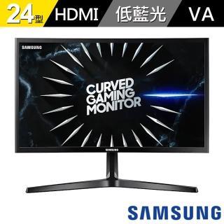 【SAMSUNG 三星】C24RG50FQC 24吋 VA電競曲面螢幕