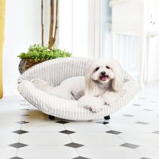 【crazypaws 瘋狂爪子】K.1寵物傢俱 Embrace 抱抱-棉麻款 小型犬貓舒適沙發床(寵物家具/寵物床/寵物窩)