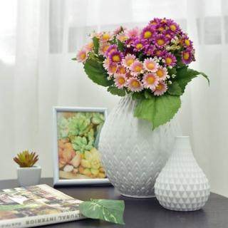 【Meric Garden】北歐現代簡約創意陶瓷花瓶(清雅白M)