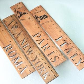 【輕靈之森】木頭書籤尺套組?巴黎、羅馬、義大利(書籤、尺、加購價)