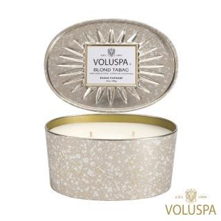 【美國 VOLUSPA】金黃菸草 錫盒 340g香氛蠟燭(Blond Tabac)