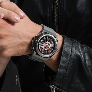 【Mazzucato】RIM 鷗翼式翻轉超跑雙機械石英手錶(RIM09-GYWH)
