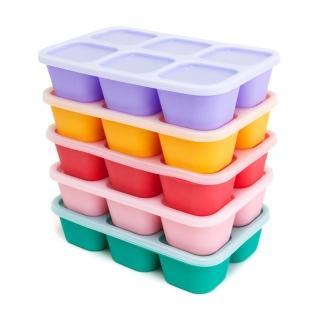 【MARCUS&MARCUS】動物樂園造型矽膠副食品分裝保存盒(多款繽紛任選)