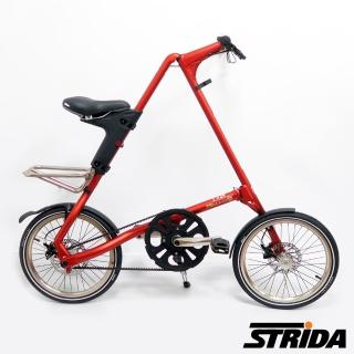 【STRiDA】速立達 18吋內變3速EVO版碟剎折疊單車/三角形單車-霧紅色