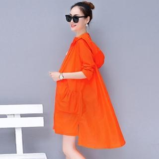 【KISSDIAMOND】日系長版輕薄透氣連帽外套-5402(抗曬/防曬/遮陽/戶外/騎車/冷氣房)