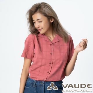 【VAUDE】女短袖格紋襯衫(VA-06053紫格/吸溼排汗/透氣舒適/簡約質感/零碼出清)