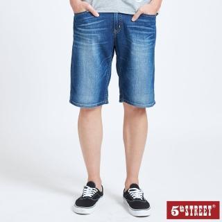 【5th STREET】男牛仔短褲-酵洗藍