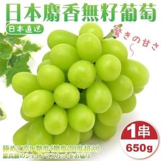 【WANG 蔬果】日本麝香無籽葡萄(1串禮盒/約520-590g)