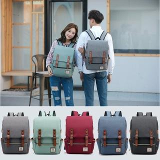 【leaper】Wenjie英倫學院風雙肩大款後背包 共5色(翻蓋式後背包)