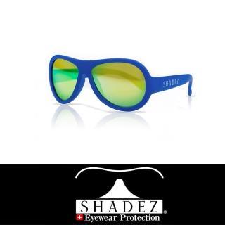 【瑞士SHADEZ】兒童太陽眼鏡 海洋藍 7-12歲(台灣製造 鏡架可彎)