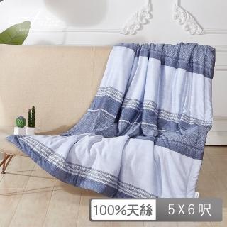 【A-nice】加框包邊|夏涼被(152X182cm/T-281藍曲 / T2)