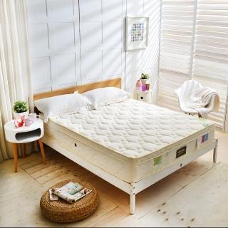【FAYA法雅】三線紓壓Cool涼感天絲抗菌-蜂巢獨立筒床墊(雙人5尺 護腰型麵包床)