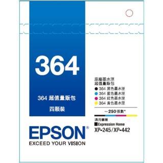 【EPSON墨水1黑3彩組】T364原廠墨水匣組合包