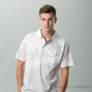 【ROBERTA 諾貝達】台灣製 帥氣休閒 抗UV 純棉短袖POLO棉衫(白色)