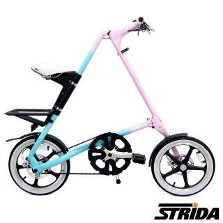 【STRiDA】速立達 16吋單速LT版碟剎折疊單車/三角形單車-漸層色