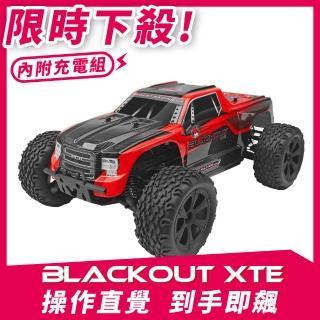 【Redcat Racing】BLACKOUT XTE 1/10四驅大腳車 紅 6050RT-07010(大腳車)
