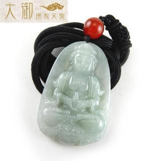 【大御佛教文物】護身辟邪寶瓶觀音翡翠項鍊(2348)