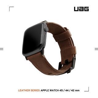 【UAG】Apple Watch 42/44mm 皮革錶帶- 棕(UAG)