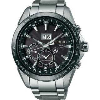 【SEIKO 精工】ASTRON 太陽能GPS衛星定位腕錶-黑/銀 44mm(SSE149J1/8X42-0AC0D)
