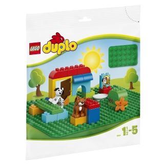 【LEGO 樂高】得寶幼兒系列 大底板 綠 2304 積木 玩具(2304)