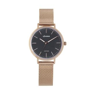 【LICORNE】力抗錶 極簡主義清新風手錶(黑/玫瑰金 LT146LRBI)