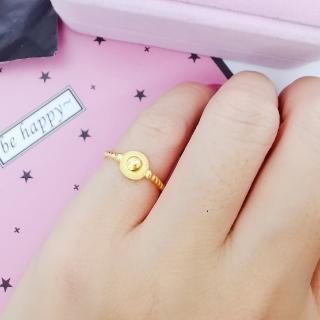 【A+】太陽盾牌 9999純黃金戒指-0.55錢±5厘(活動戒圍)