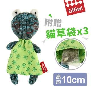 【GiGwi】就是愛貓草-絨毛玩具-微笑蛙(貓 寵物玩具)