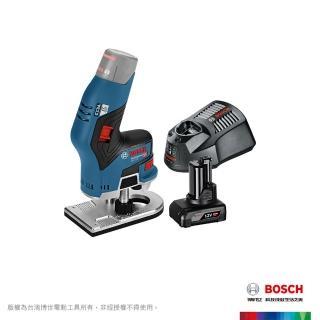 【BOSCH 博世】 12V 鋰電免碳刷修邊雕刻刀 4.0Ah 套裝GKF 12V-8 VP (4.0Ah batt)